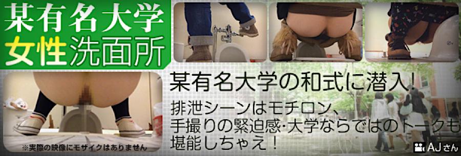 無修正おまんこ動画|某有名大学女性洗面所|無毛まんこ